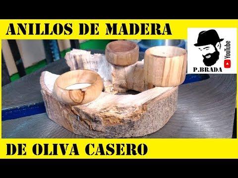 Anillos de madera de oliva Casero