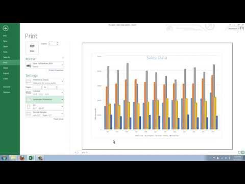 How to Print a Chart from Excel 2013