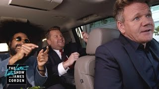 gordon ramsay drives james reggie to lax latelatelondon