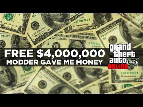 GTA 5 ONLINE FREE $4,000,000 Money Glitch by a Modder!? (GTA 5