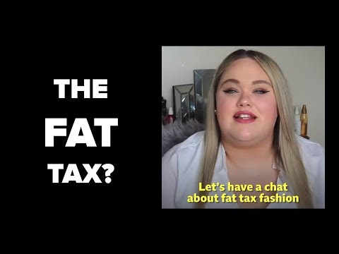 Fat Tax UNFAIR? Obese Pay More for Clothing
