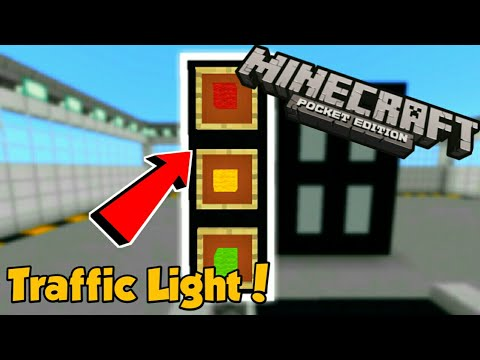 Minecraft PE | How To Make a Working Traffic Light! | Command Block creation