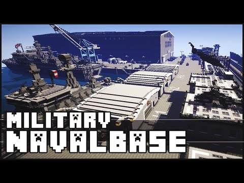 Minecraft - Military Base / Naval Base with Epic Secret!