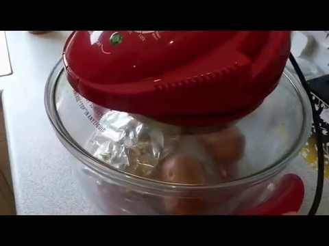 How to cook jacket potatoes and chicken in a halogen oven