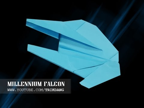 STAR WARS PAPER AIRPLANE - How to make a Simple paper airplane model  |  Millennium Falcon