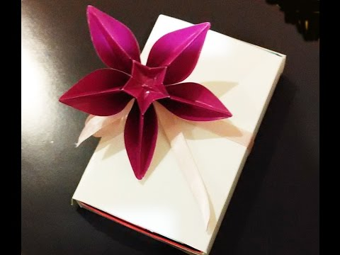 Awesome decoration for gifts - Origami flower Carambola Carmen - Great ideas Valentine's gift