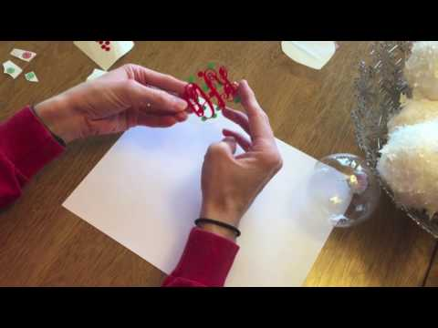 How to create the perfect monogrammed Christmas ornament!