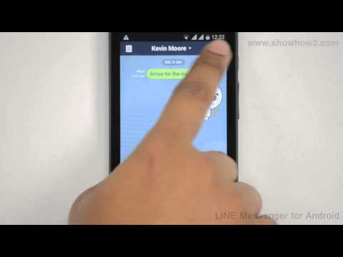Line Messenger - How To Delete Messages