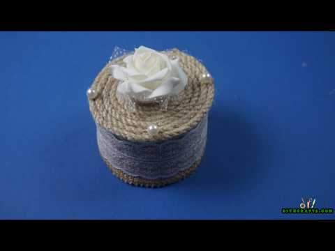 How to Make a DIY Jewelry Box Out of a Duct Tape Roll