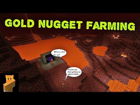 Minecraft - Gold nugget farming