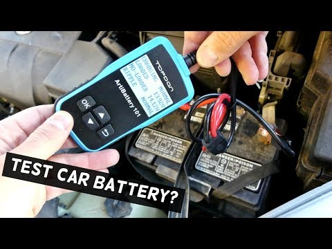 HOW TO TEST CAR BATTERY AND ALTERNATOR EASY