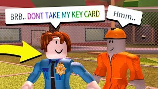 USING BACON HAIR TO LURE PRISONERS! (Roblox Jailbreak)