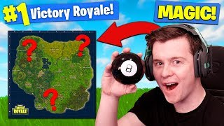 Using MAGIC 8-BALL TO *WIN* Fortnite Battle Royale!