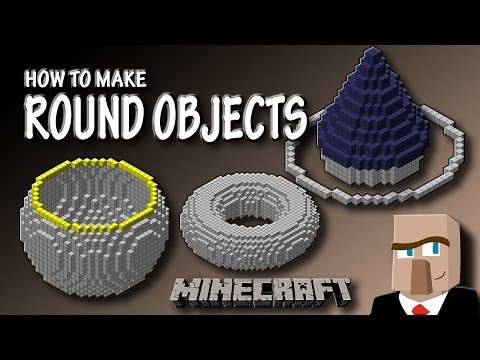 HOW TO MAKE ROUND OBJECTS IN MINECRAFT: Sphere, Torus, Cone, and More!