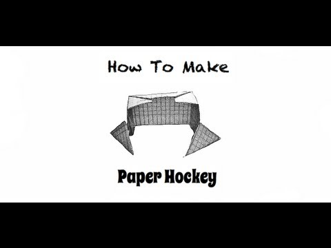 How To Make Paper Hockey