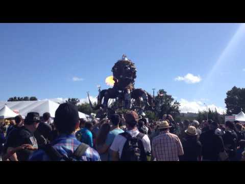 Burning Man Poofer At Maker Fair 2014 San Mateo, CA
