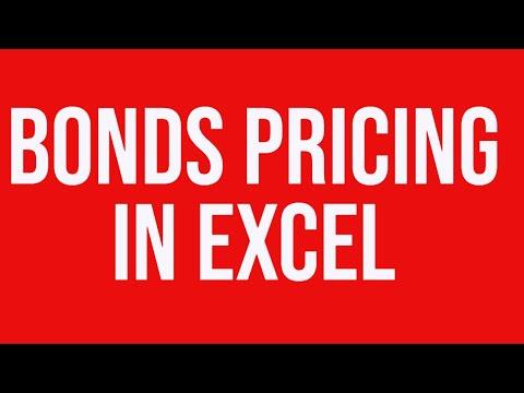 Bonds Pricing MS Excel