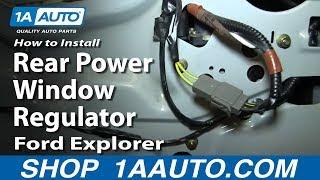 How to Replace Rear Window Regulator 02-10 Mercury Mountaineer