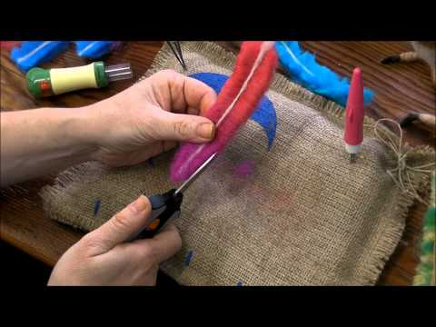 How to Make a Needle Felted Feather by Sarafina Fiber Art