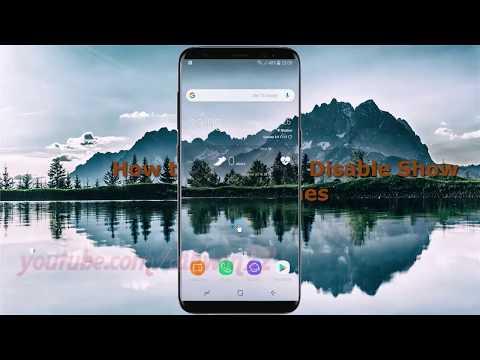 Android Nougat : How to Enable or Disable Show touches in Samsung Galaxy S8 or S8+