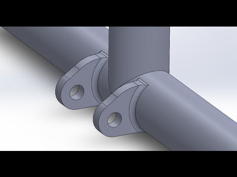 SolidWorks: Suspension Mount on a Tubular Frame- 2 Methods |JOKO ENGINEERING|