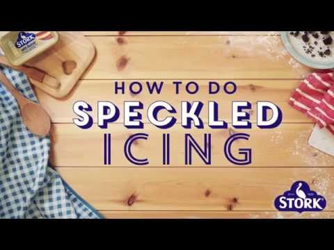 Bake with Stork: How to do Speckled Icing