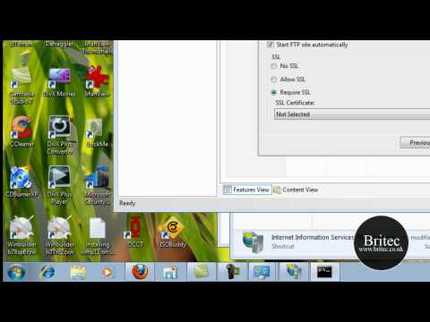 How to setup an FTP Server in Windows using IIS by Britec