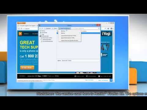How to take back up and restore bookmarks on Mozilla® Firefox in Windows® 8