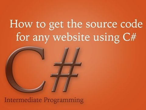 How to get the source code for any website using C#