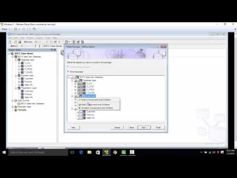 Cognos 10.2 Tutorial - Publishing a Package - Set-11 of 50 - Live Project