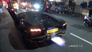Chaos - 100 Supercars Shut Down the Streets of London - Police get Involved!