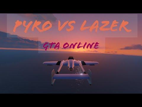 Pyro vs Lazer (lots!) GTA Online
