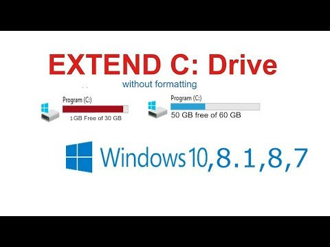 how to extend c drive in windows 10 without formatting