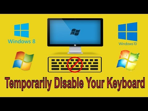 How to Temporarily Disable Your Keyboard with a Keyboard Shortcut in Windows 10