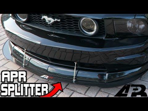 Installing an APR FRONT WIND SPLITTER! Worth it?? (05-09 GT Mustang Splitter)