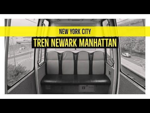El tren que une el aeropuerto de Newark con el centro de Nueva York