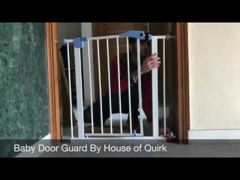Safety Gate and Barrier For Kids Pets By House of Quirk