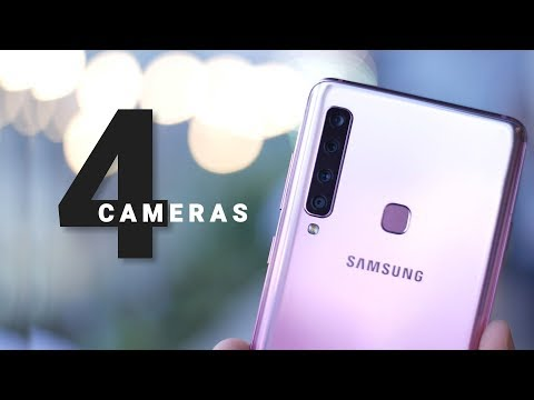 Galaxy A9 Hands On: World's First Phone with 4 Cameras!