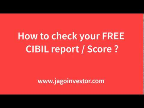 Check FREE CIBIL Report and Score - Step by Step Process