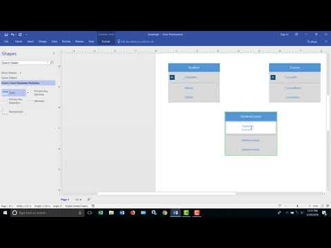 Design a Relational Database with Visio