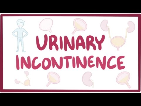 Urinary incontinence - causes, symptoms, diagnosis, treatment, pathology