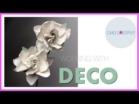 GARDENIA Flower Tutorial: Cold Porcelain , Gumpaste or Deco.
