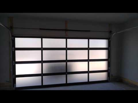 C.H.I Model 3295 Frosted Glass Garage Door/Aluminum - Modern & Contemporary
