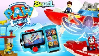 Paw Patrol Nickelodeon Sea Patrol Rubble Underwater Rescue with Sea Patroller and Sea Patrol Pup Pad