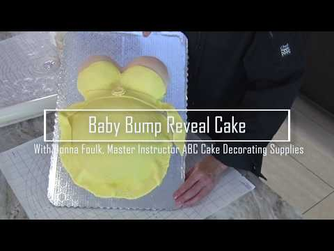 Baby Bump Reveal Cake