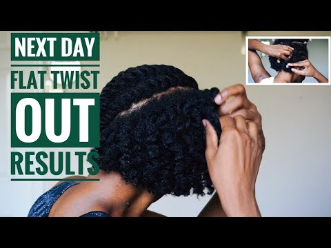 Next Day Flat Twist Out Results on Short 4C Natural Hair