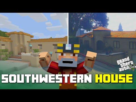 Minecraft Xbox One: Southwestern House Tour! (GTA 5 Remake)