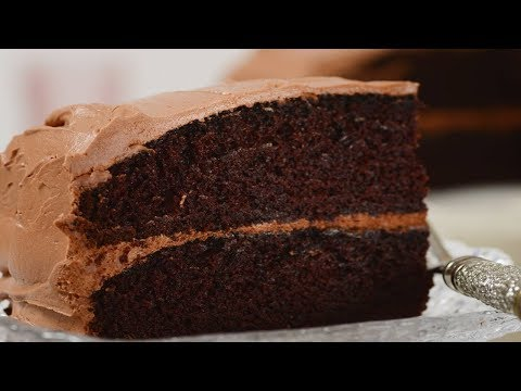 Simple Chocolate Cake Recipe Demonstration - Joyofbaking.com