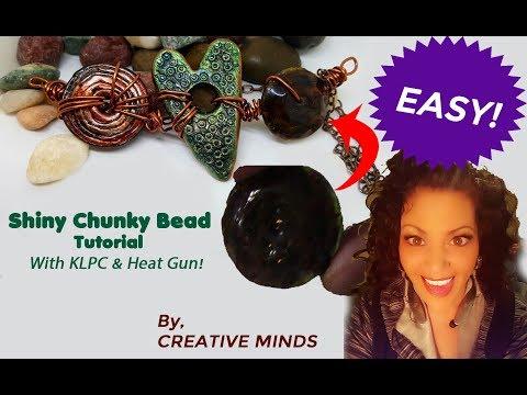 How to make a Shiny Chunky Bead With Kato Liquid Clay!! EASY!!