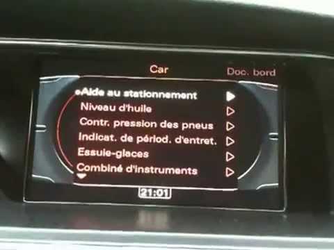 Audi MMI 3G Menu caché - Vidly xyz